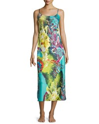 Natori Awai Floral Printed Long Gown Multi