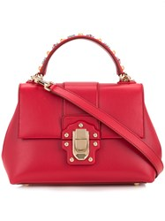 Dolce And Gabbana Lucia Tote Women Calf Hair One Size Red
