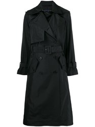 Eudon Choi Double Breasted Coat Black