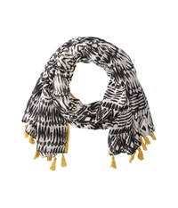 San Diego Hat Company Bss1740 Woven Tribal All Over Print With Tassel Black Scarves