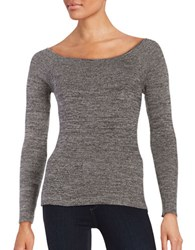 Design Lab Lord And Taylor Knit Off The Shoulder Top Black