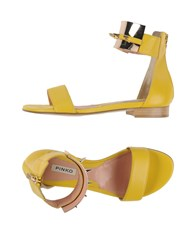 Pinko Footwear Sandals Women Yellow