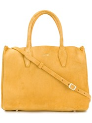 Lanvin Wide Shaped Tote Bag Yellow And Orange