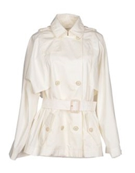 Veronique Branquinho Full Length Jackets White