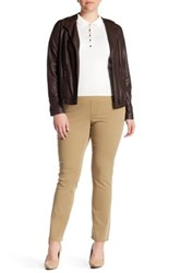 Jag Jeans Peri High Rise Straight Jean Plus Size Brown