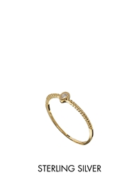 Asos Gold Plated Sterling Silver April Birthstone Ring Crystal