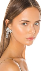 Jennifer Behr Lola Earrings In Metallic Silver. Crystal
