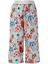 I'm Isola Marras Floral Print Cropped Trousers Blue
