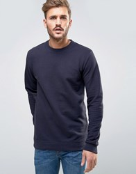 Only And Sons Waffle Sweatshirt In Navy Dark Navy