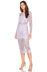 Karina Grimaldi Shell Lace Dress Lavender