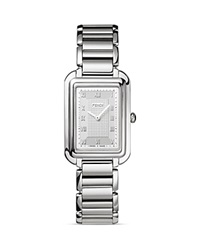 Fendi Large Stainless Steel Classico Watch 31Mm Silver