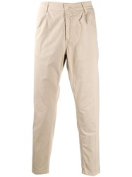 Haikure Cropped Trousers Neutrals