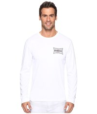 O'neill Mainsail Long Sleeve Performance Screen Tee Imprint White Men's T Shirt