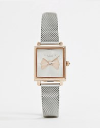 Ted Baker Isabella Square Mesh Watch Silver