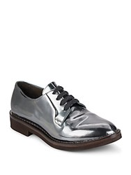 Brunello Cucinelli Metallic Leather Oxfords Shiny Olive