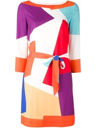 Boutique Moschino Geometric Print Dress Multicolour
