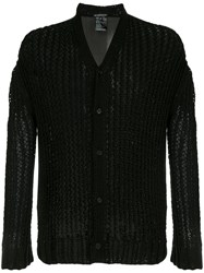 Ann Demeulemeester Open Knit Cardigan Black