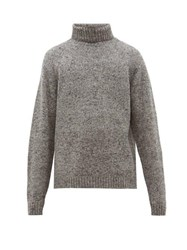 The Row Asher Camel Blend Roll Neck Sweater Grey