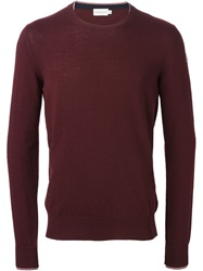 Moncler Crew Neck Sweater Red