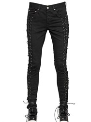 Hba Hood By Air Lace Up Cotton Denim Jeans