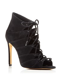 Dolce Vita Hanoa Lace Up Open Toe High Heel Booties 100 Bloomingdale's Exclusive Black