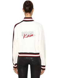 Karl Lagerfeld X Kaia Embroidered Track Jacket Ivory