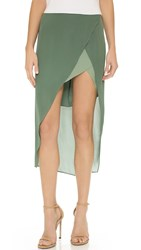 Mason By Michelle Mason Skirt With Contrast Lining Sage