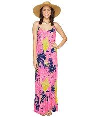 Lilly Pulitzer Tenley Maxi Beach Dress Multi Under The Canopy Women's Dress Pink