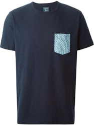Woolrich Paisley Print Pocket T Shirt Blue