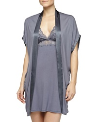 Fleurt Fleur't Bohemian Rhapsody Silk Band Robe Blue Granite