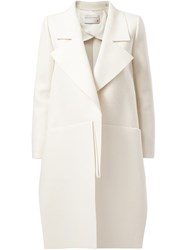 Maison Rabih Kayrouz Single Breasted Coat White