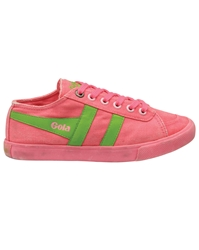 Gola Quota Neon Classic Trainer Shoes Pink