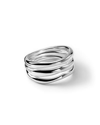 Ippolita Sterling Silver Glamazon Triple Band Squiggle Ring