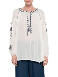French Connection Edessa Folk Top Summer White