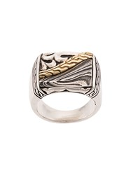 John Hardy Classic Chain Engraved Ring Silver