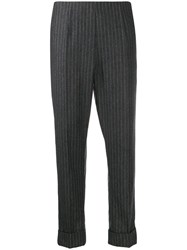 Antonio Marras Pinstriped Cropped Trousers Grey
