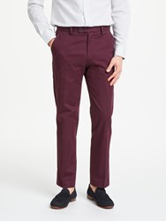 John Lewis Woven In Italy Tailored Trousers Burgundy