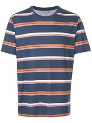 Gieves And Hawkes Striped T Shirt Blue