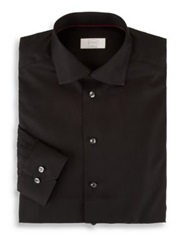 Eton Of Sweden Contemporary Fit Solid Dress Shirt Black
