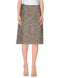 Max Mara Studio Skirts Knee Length Skirts Women Khaki