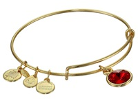 Alex And Ani July Birthstone Charm Bangle Rafaelian Gold Finish Bracelet