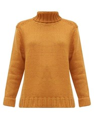 Joostricot Roll Neck Wool Blend Sweater Brown