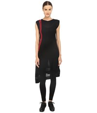 Yohji Yamamoto W Knit Tunic Black Scarlet Women's Dress