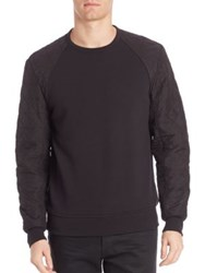 Victorinox Long Quilted Sleeve Pullover Grey Black