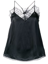 Iro Lace Trim Camisole Black