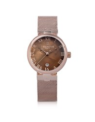 Lancaster Women's Watches Chimaera Rose Gold Stainless Steel Watch W Brown Dial
