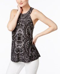Inc International Concepts Printed T Back Halter Top Only At Macy's Pagoda Paisley