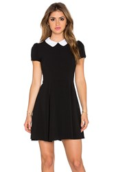 Eight Sixty Peter Pan Collar Dress Black And White