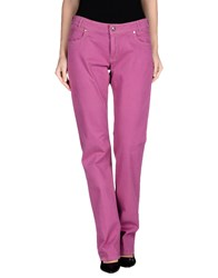 Brooksfield Trousers Casual Trousers Women Dark Purple