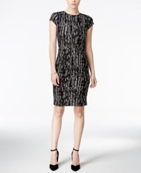 Bar Iii Printed Crepe Sheath Dress Only At Macy's